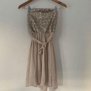 REBECCA TAYLOR strapless Dress Size 2.